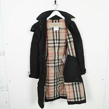 Vintage Women's BURBERRY BRIT Nova Check Long Goose Down Puffer Jacket Coat | XS