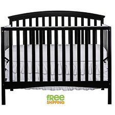 Convertible Baby Bed Full Size Crib 4 in 1 Toddler Nursery Furniture Black New!