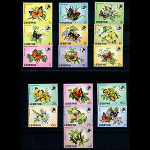 LESOTHO 1984 Butterflies. SG 563-578. 16 Values. Mint Never Hinged. (AR812)
