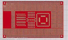 Universal PCB Laminate Board THT SMD ADuC8xx 71x116mm 880 holes Microcontrollers