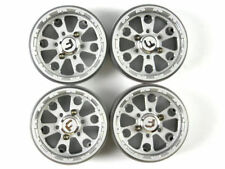 4 x Alloy Wheels Rims 1.9 1/10 rc crawler SCX10 CC01 SILVER 25.4mm thick  B15