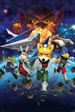 STAR FOX 64 - CHARACTERS 24x36 poster BRAND NEW FOX MCCLOUD ARWING LYLAT WARS!!!
