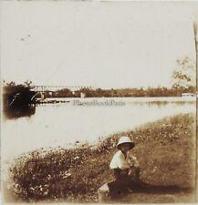 Thanon Thaïlande ? Photo Plaque de verre Stereo L15 Vintage 1923