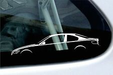 2x car silhouette stickers - for BMW e92 3-series Coupe 320i, 330i, 330d
