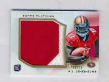 A.J. Jenkins 2012 Topps Platinum Refractor Auto Jumbo Patch Rookie Rc #71/71