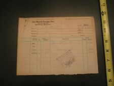 1922 Busch Garage Diamond cord Fabric tires Red Wing Minnesota MN Letterhead 72