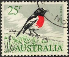 Australia 1966 25c Scarlet Robin with Listed Variety VFU