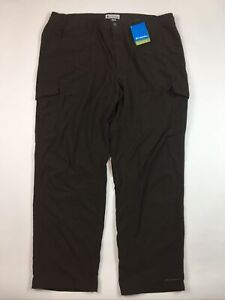 NEW Columbia Men's Pants XXL 2XL x 32 Brown Nylon Lined Switchback II Cargo Y3-5