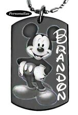 MICKEY MOUSE - Dog tag Necklace/key chain + FREE ENGRAVING
