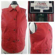 Ralph Lauren Naval Supply Equestrian/Nautical Waterproof Women Red Vest M