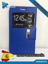 Funda Carcasa Libro Iman ZTE Blade A570 Azul ENVIO GRATIS