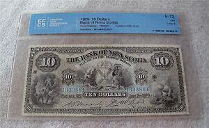 1929 Bank Of Nova Scotia $10 dollars chartered banknote Charlton 550-18-20 FINE