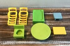 Vintage Fisher Price Little People Furniture Lot of 7