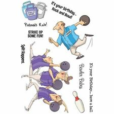 Art Impressions Clear Stamps - Spare Me - Ten Pin Bowling, Split Happens