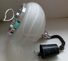 BONITA LAMPARA DE TECHO VINTAGE DE METAL GRUESO CRISTAL, POP METALARTE SPACE AGE