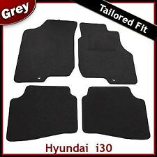 Hyundai i30 Mk1 2007 - 2012 2-clips Tailored Fitted Carpet Car Mats GREY
