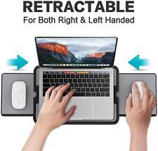 New listing Portable Laptop Lap Desk w/ Retractable Mouse Pad Tray Non Slip Heat Shield