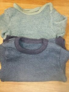 ♥♥♥ SET, 2 DISANA Schurwolle Pullover, blau, 92/98, Räubersachen, verdichtet ♥♥♥