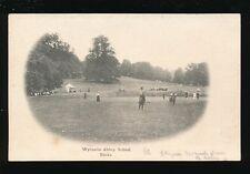 Bucks Buckinghamshire WYCOMBE ABBEY School playing croquet pre 1919 PPC