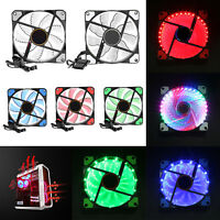 15/33LED 12V 120mm Chassis Case Heatsink Cooler Cooling Fan for PC Computer Case