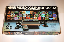 Atari 2600 Woodgrain 4-Switch Combat Bundle Video Game System Complete in Box