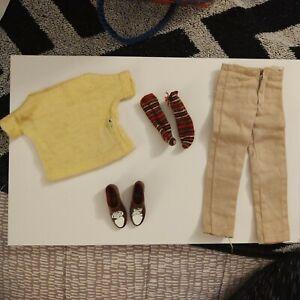 "*VINTAGE Barbie""s  KEN 1961/Casuals)782/pants, yellow sweater, socks & shoes"