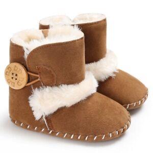 0-18M Newborn Infant Baby Girls Snow Boots Winter Warm baby boots girl Plush