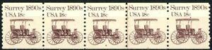 Surrey 1890s Transportation Coil MNH PNC5 Plate 8 Scott's 1907