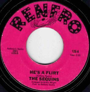 """NORTHERN SOUL - SEQUINS - HE'S A FLIRT  - RENFRO LABEL - """"HEAR"""""""