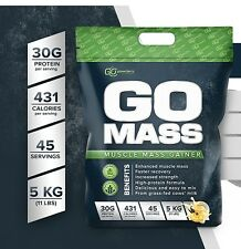 Go Powders GO MASS 5kg 11lb **CHOCOLATE** Whey Protein Mass Serious Size Max Mex
