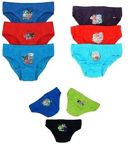 Boys Character Pack Of 3 Briefs. Choice Of Design - Paw Patrol, Bing, PJ Masks