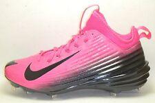 Mothers Day Pink Nike Lunar Vapor Mike Trout Metal Baseball Cleats BCA size 9 PE