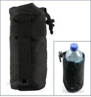 Black Water Bottle MOLLE Tactical Army Utility Dump Carrier Bag Pouch Belt T2