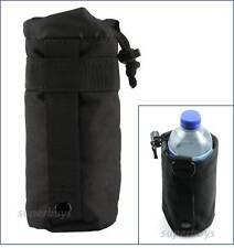 Black Water Bottle MOLLE Tactical Army Utility Dump Carrier Bag Pouch Belt T2