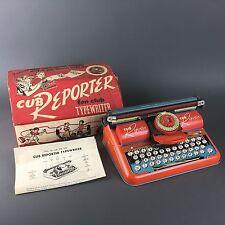 Vintage Tin Litho Cub Reporter Typewriter w/ Original Box