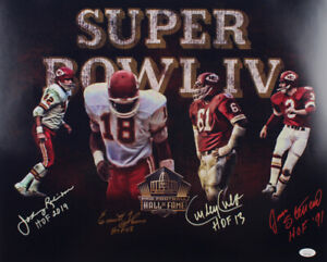 KANSAS CITY CHIEFS SIGNED SBIV HOF 16x20 JAN STENERUD CULP THOMAS ROBINSON w/JSA