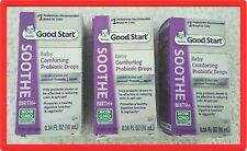 3 x Gerber Good Start Soothe Baby Comforting Probiotic Drops exp.06/2021 +