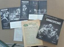 Oregon Shakespearean Festival Ashland 1962 Program, News, Brochures; Shakepeare