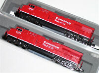KATO 1768934 + 1768935 N 2 loco SET ES44AC Canadian Pacific 8700/8743 176-8934