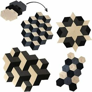 Modular Area Rug Black,Cream,Grey Geometric Changeable Bedroom Living Kitchen !!