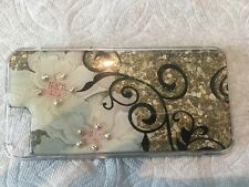 NEW DEBBIE BROOKS IPHONE 5 5S CLEAR COVER GOLD FLOWER VINE