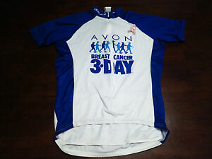 Voler Mens Cancer Pink Ribbon Bike Cycling Jersey Sz M Medium Shirt MTB Race Zip