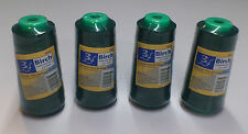 BIRCH POLYESTER OVERLOCKER THREAD 2500MT : BOTTLE GREEN - PACK OF 4  SPOOLS