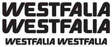 Vw westfalia sticker set - x4 decals in kit  ( CAMPERVAN/ VOLKSWAGEN/ BUS)
