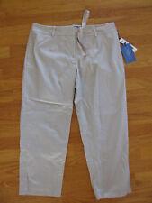 NWT ladies womens Simply Vera Wang kahki tan capri cropped crop pants 12 new