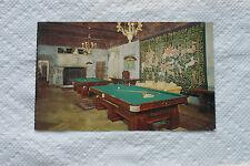Old Vintage Postcard Hearst San Simeon Historical Monument Pool Billiard Room CA