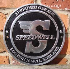 Speedwell Sign cast aluminium vw vintage speed brm mini cal judson porsche VAC27