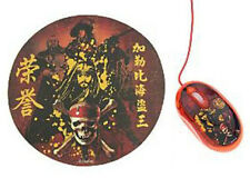 Disney PIRATES OF THE CARIBBEAN MOUSE & MOUSE PAD New in Pkg.