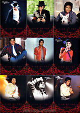 MICHAEL JACKSON PANINI RED FOIL SET OF 190 CARDS+