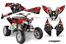 ATV Decal Graphic Kit Quad Wrap For Polaris Outlaw 450 525 2009-2012 REAPER RED